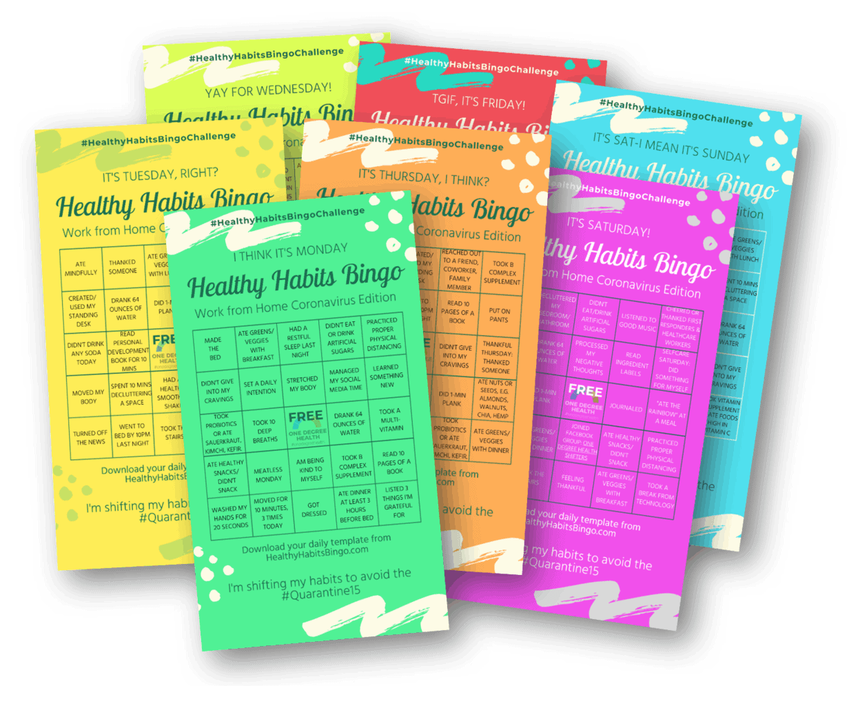 Download Cards Story Sized - Healthy Habits Bingo