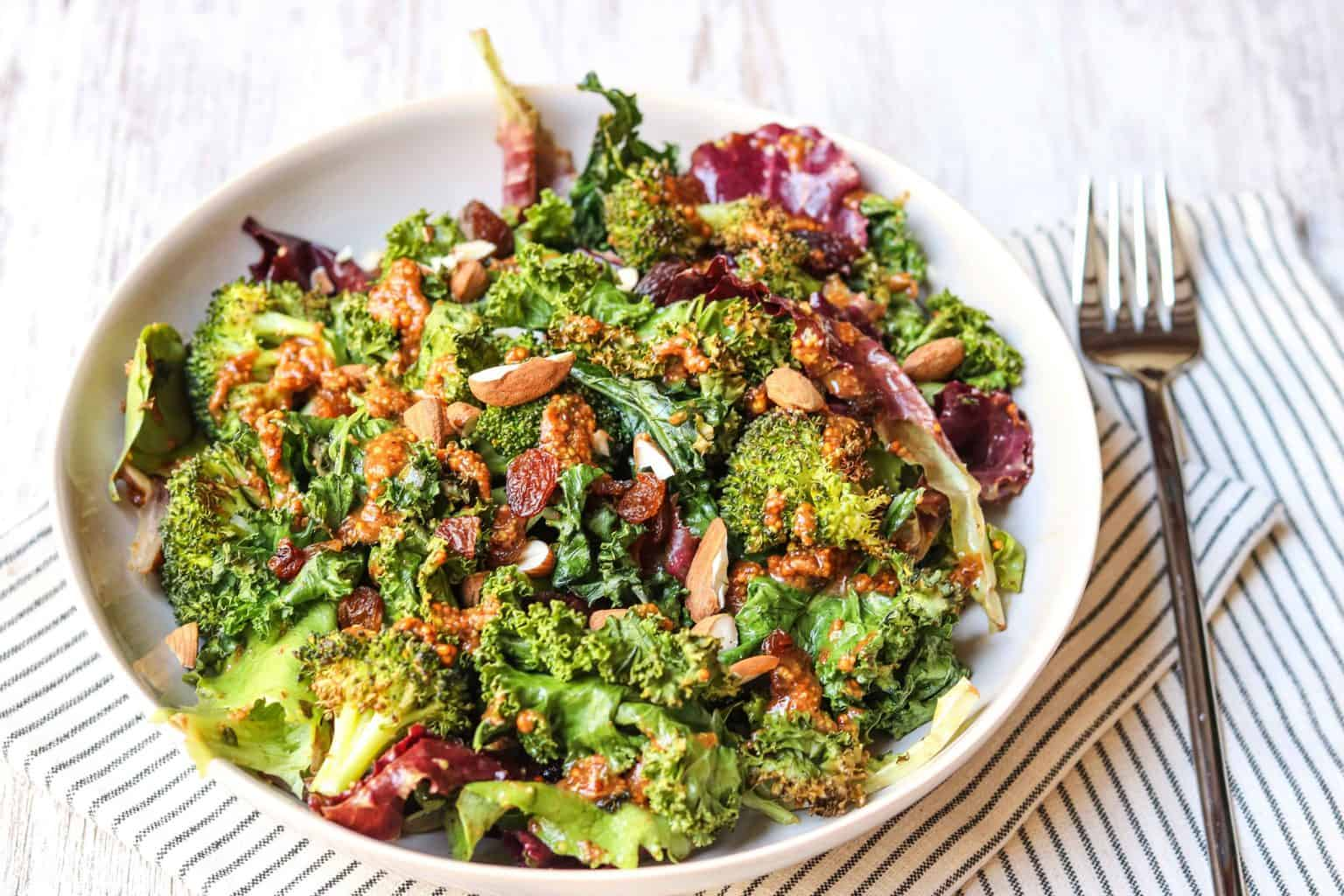broccoli kale salad 3 scaled - Wellness for Busy People - Online Nutrition Coaching