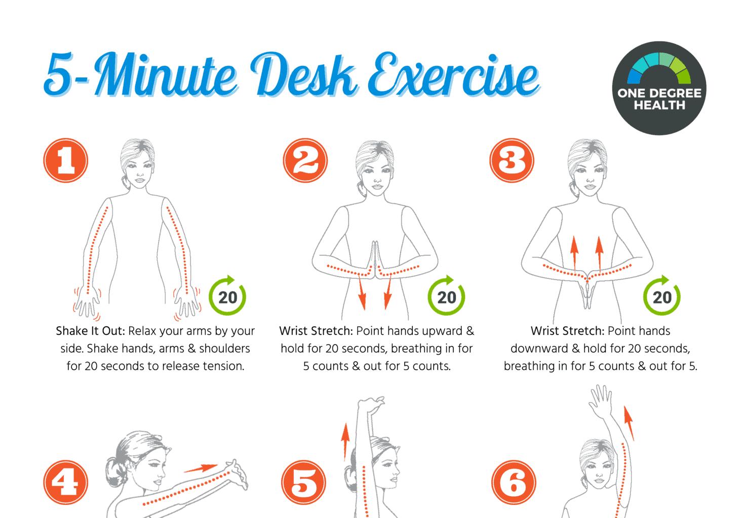 5-minute desk excercise