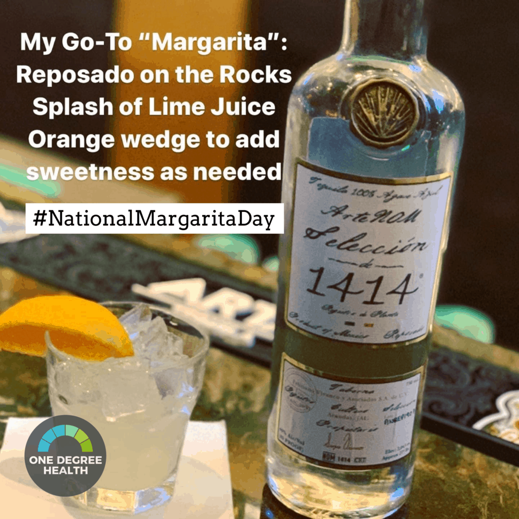 My go-to margarita: Reposado on the rocks, with a splash of fresh lime juice, and an orange wedge to add sweetness as needed. #NationalMargaritaDay