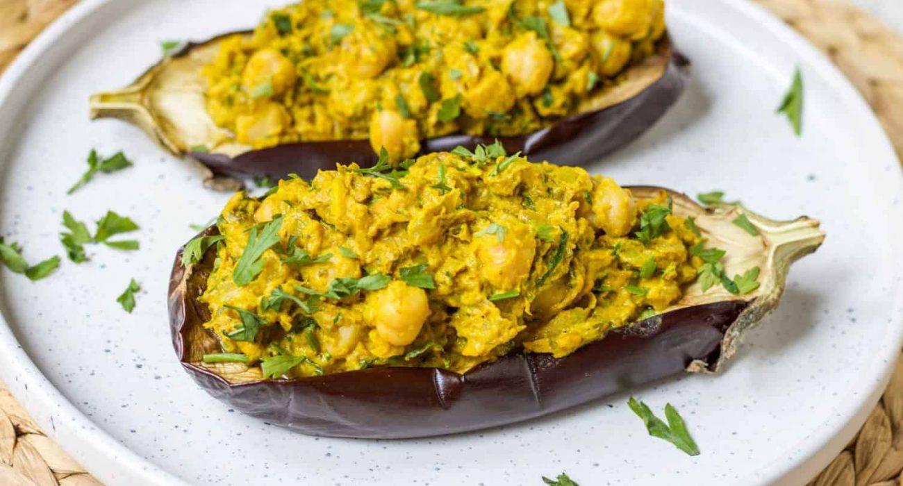 turmeric-chickpea-stuffed-eggplant